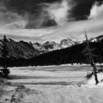 Indian Peaks, black and white