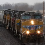 UP 6075 and company lead two miles worth of soda ash cars.