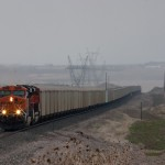 Northbound BNSF coal empty lead by BNSF 6048 headed to the Powder River Basin.