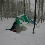 "This is the small tent, made even smaller by the 30"" of snow on top of it. I was almost sure I was going to be buried"