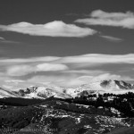 Mount Evans to the west