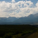 The Colorado giants: Mount Elbert at 14,443' (left) and Mount Massive at 14,421' (right)