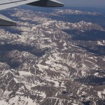 Indian Peaks Wilderness and Rocky Mountain National Park from my plane window.