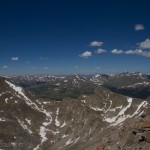 Mount Bierstadt and Sawtooth looking west from Mount Evans