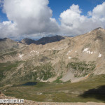 Mount Democrat with Kite Lake below. Kite Lake is one trailhead for the Democrat, Cameron, Lincoln, Bross chain.