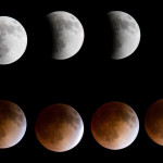 The Blood Moon, also known as a lunar eclipse. I pieced together my images of the moon from full to full eclipse.